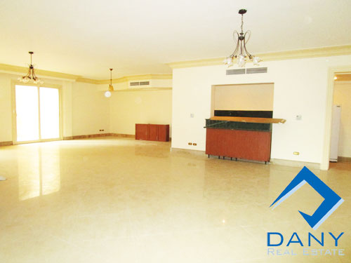 Residential Ground Floor Apartment For Rent Semi Furnished in Katameya Heights Great Cairo Egypt